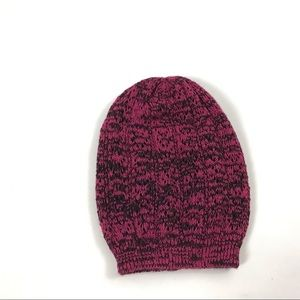Winter Hat Pink Black One Size